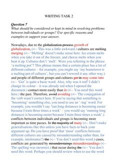 Lexical problems abound in this essay! Notice how they affect overall coherence