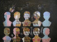 """Saatchi Online Artist: Matthew Rose; Decoupage 2013 Collage """"MAD MEN"""""""