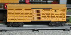 Lionel postwar # 6656 Lionel Lines yellow stock car.