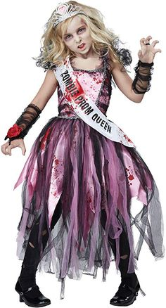 [Halloween Costumes Women] California Costumes Zombie Prom Queen Costume, Pink/Black, Large >>> Be sure to check out this awesome product. (This is an affiliate link) Halloween Zombie, Zombie Prom Queen Costume, Creepy Halloween Costumes, Halloween Outfits, Halloween Kids, Zombie Costumes, Halloween Makeup, Halloween 2017, Zombie Costume Women