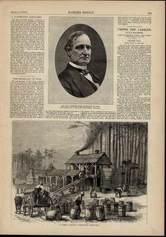 NC Turpentine Distillery Sec. of War Taft 1876 great old print for display #Vintage