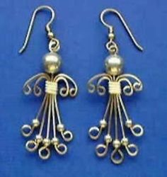 Egyptian Coil Drop Earrings by Judy LarsonI love making wire