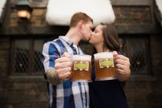 This Harry Potter World Engagement Shoot Is Sweeter Than Fizzing Whizbees - Engagement Photos at the Wizarding World of Harry Potter -