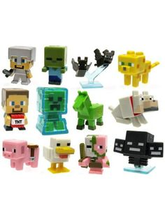 Minecraft Mini Vinyl Figures In Blind Box Assortment Series 2 - Custom Party Supplies