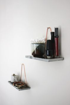 DIY Mini Copper & Marble Shelf @themerrythought