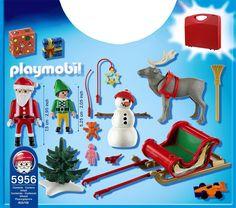 Playmobil - Maletín con diseño trineo de papá noel (5956): Amazon.es: Juguetes y juegos