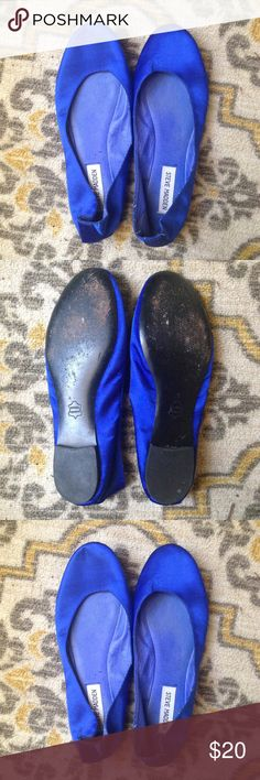 Royal Blue Ballet Flats Royal blue ballet flats by Steve Madden. My sister wore a similar pair in her wedding day as her something blue 💙 Steve Madden Shoes Flats & Loafers