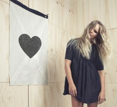 The Minimalist - The Minimalist Store / Cross My Heart / Wall Flag