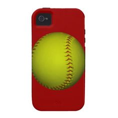 High Visibility Yellow Softball iPhone 4/4S Covers