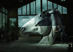 Surrey-based sculptor Nic Fiddian-Green is renowned for his colossal horse heads, which grace a number of our most prestigious venues, from Marble Arch to Royal Ascot.