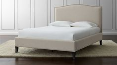 Colette Upholstered Queen Bed | Crate and Barrel