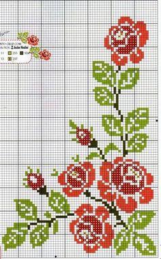 The most beautiful cross-stitch pattern - Knitting, Crochet Love Cross Stitch Love, Cross Stitch Borders, Cross Stitch Flowers, Cross Stitch Charts, Cross Stitch Designs, Cross Stitching, Cross Stitch Embroidery, Cross Stitch Patterns, Christmas Cross