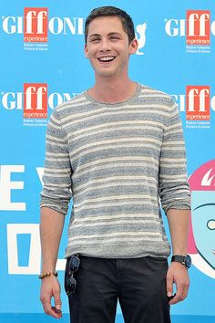 Laughing Logan Logan Lerman gave a laugh at the Giffoni Film Festival in Italy on Tuesday.