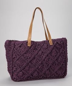 Take a look at this Purple Straw Tote by Straw Studios on #zulily today!
