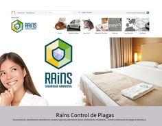 Rains. Diseño web de empresa de eliminación de plagas