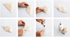 Vie tuliaisiksi kukka, joka ei lakastu.Herkkä ja runsas japanilainen kusudama-origamikukka syntyy viidestä yhteenliitettävästä origamimuodosta.
