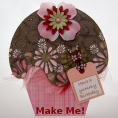 Cupcake Card Template and Tutorial wizzley.com
