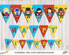 Superchicas Cupcake Toppers superhéroe chicas fiesta fiesta