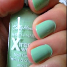 """Polish my little man likes for """"Mommy's pretty nails"""" :) Mint Sorbet!"""