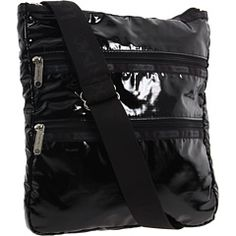 Lesportsac Black Patent Deluxe Everyday Bag At Hsn Com