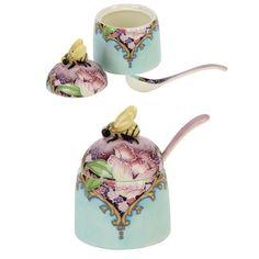 "Old Tupton Ware Amethyst Bouquet Honey Pot 3""  TW7966 NEW  20251"