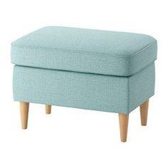 IKEA - STRANDMON, Podnóżek, Skiftebo jasnoturkusowy, , Świetnie się sprawdza jako dodatkowe siedzenie lub podnóżek..
