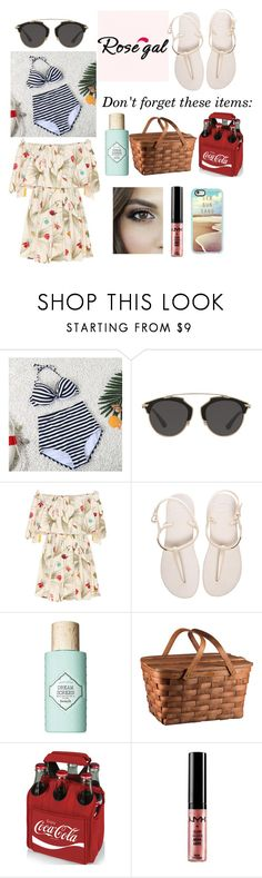 """""""Beach time!!!"""" by hollyjaki ❤ liked on Polyvore featuring Christian Dior, Fendi, Havaianas, Benefit, Picnic Time, NYX and Casetify"""