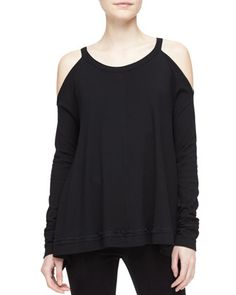 Silk-Side+Cold-Shoulder+Draped+Tunic+by+Donna+Karan+at+Bergdorf+Goodman.