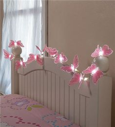 Butterfly String Lights - I like the idea of doing the end of the bed (either end).