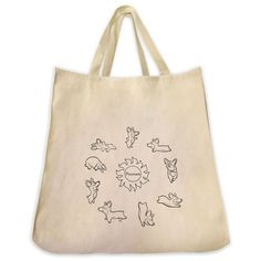 Yoga Dogs With Pawmaste Sun Circle Outline Design Extra Large Eco Friendly Reusable Cotton Canvas Tote Bag