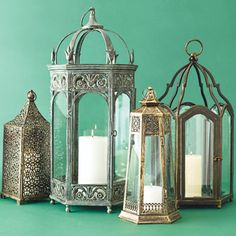 These decorative metal lanterns with faceted glass panels look charming but also supply subtle illumination. Precursors to electric and gas lights, lanterns guided the way along dim paths and from carriage to front door. Modern versions still have handles for carrying or rings for hanging, as well as designs that echo centuries of use around the world, from Morocco to the English countryside. —This Old House