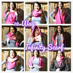 The most versatile scarf you've ever seen, this DIY infinity scarf can be worn 10 different ways. $50 in stores, I show you how to DIY for less than $10!
