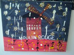 Moulin Rouge The Red Mill Melted crayon by KelleyFoxArtwork, $25.00