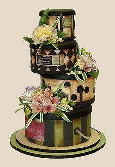 Hat box cake - W O W (amazingly realistic & love the colors too)