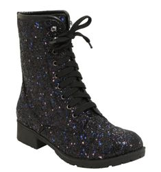 Black Glitter Boots, Purple Boots, Glitter Shoes, Purple Glitter, Black Sparkle, Black Shoes, Glitter Bomb, Glitter Hair, Geek Outfit