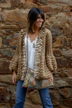 16 ideas for crochet cardigan boho shirts Knit Fashion, Look Fashion, Trendy Fashion, Latest Fashion, Fashion Trends, Bohemian Mode, Boho Chic, Boho Outfits, Fashion Outfits