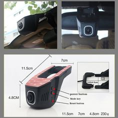 Car Driving Video Recorder DVR Mini Control APP Wifi Camera Black Box / Novatek 96658 FHD 1080P Dash Cam Original Style