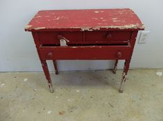 Vintage Antique Red Childs Desk by FULLYFOUND on Etsy, $65.00