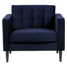 Woood fauteuil Livia gecapitoneerd fluweel nachtblauw kopen?  fauteuils | Karwei Chesterfield, Online Furniture, Love Seat, Couch, Blue, Home Decor, Armchairs, Armchair, Settee