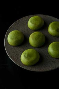 Japanese sweets, Matcha manju...I love the rich green that Matcha creates