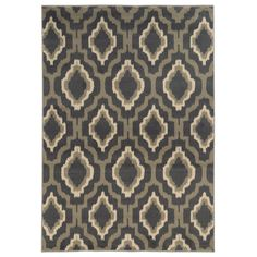 Make a bold statement in your home decor with the addition of this geometric ikat lattice design area rug. With a sophisticated and warm color palette, this casual rug will add fun, contemporary style to any space.
