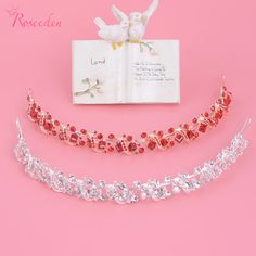 White/Red Shiny Crystal Square Rhinestone Big Stone Wedding Party Tiara Hair Bands Bridal Hair pieces for women wedding RE152 //Price: $12.52 & FREE Shipping //     #hairextension #style #beauty #woman #love