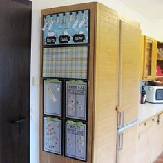 Kitchen Command Center; menu board, dry erase note board,magnetic chore chart by earnestine