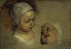 van Dyck, Sir Anthony - Princess Elizabeth, 1635-1650 and Princess Anne 1637-1640 Daughters of Charles I.jpg