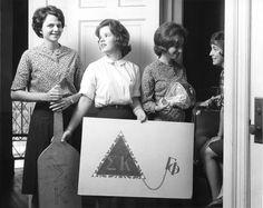 Sigma Kappa.. The ladies of Gamma Phi. Look how big that paddle is haha!