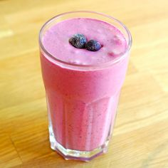 Berry Coconut Cream Smoothie from A Duck's Oven