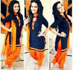 punjabi suit design beautifulll combination of salwars suit .. get your suits made visit us : https://www.facebook.com/punjabisboutique whatsapp : +917696747289  pinterest : @nivetas