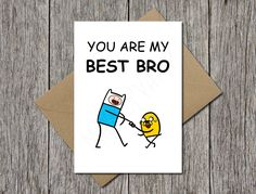 Adventure Time Finn and Jake Cute Greeting Card Geeky by MarcyVamp