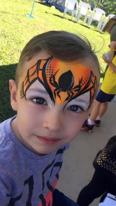 Spider on web / face paint