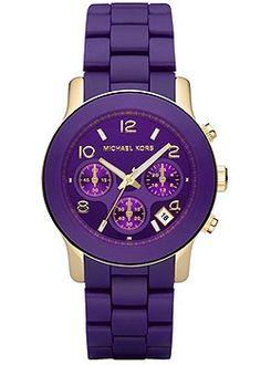 Michael Kors purple watch    #OPIEuroCentrale #WantToBiteMyNeck